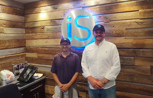 IntelliSurvey's employee with Co-Founder Jon