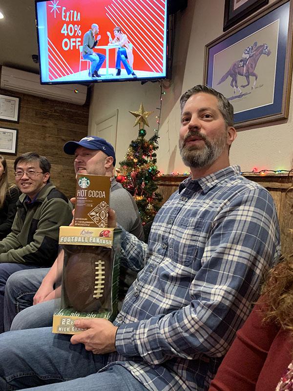 IntelliSurvey employee showing off his gifts