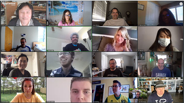 Team Meeting Screenshot of 17 employees